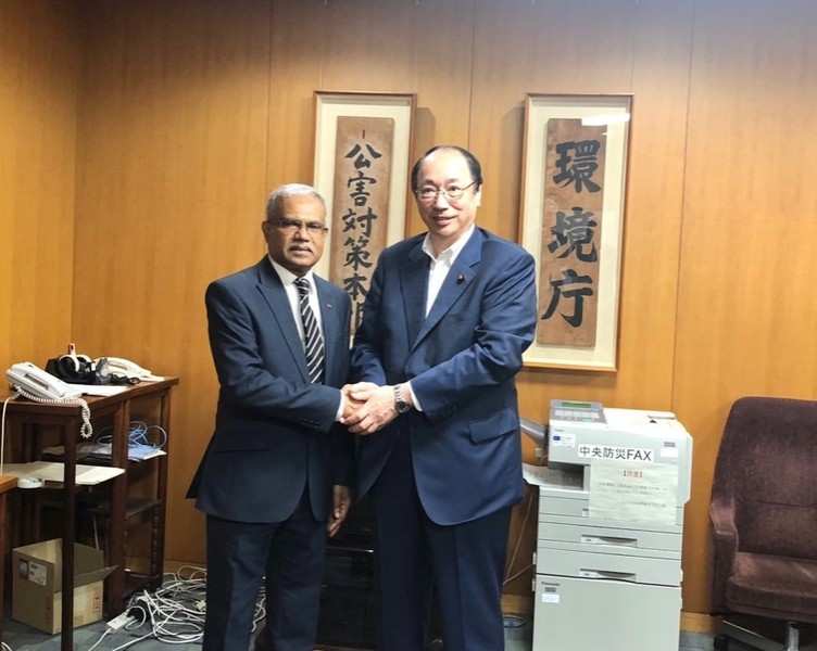 Foreign Minister Dr. Mohamed Asim meets H.E. Mr. Masaharu Na ... Image 1