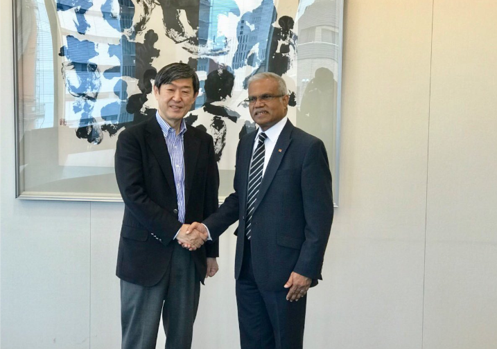 Foreign Minister Dr. Mohamed Asim meets Mr. Shinichi Kitaoka ... Image 1