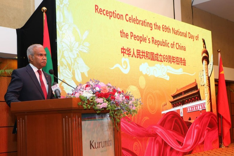 Foreign Minister attends reception to celebrate the 69th Nat ... Image 1