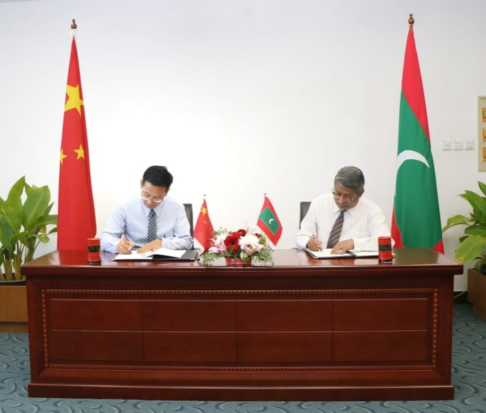The Governments of Maldives and China Sign Exchange of Lette ... Image 1
