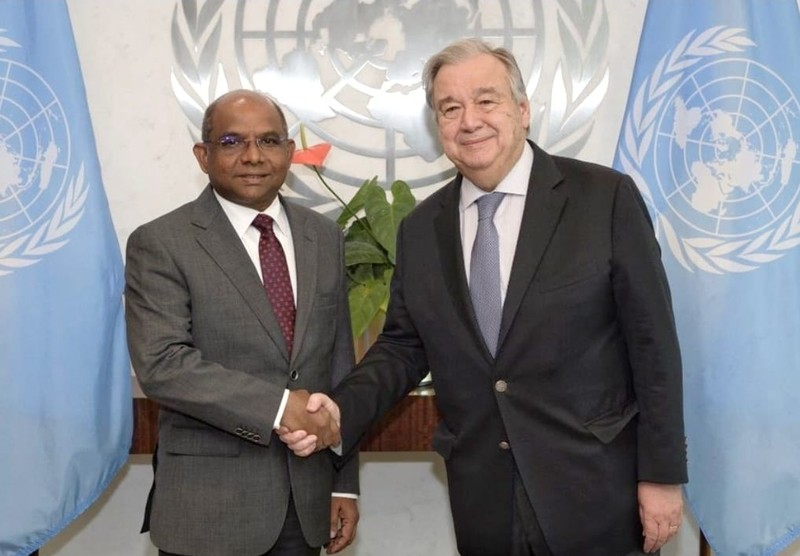 Foreign Minister Shahid meets the United Nations Secretary G ... Image 1