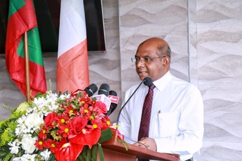 Foreign Minister Abdulla Shahid attends the ceremony to comm ... Image 1
