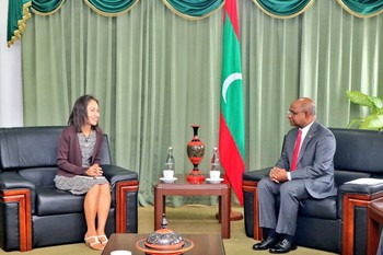 Ms. Shoko Noda, UN Resident Coordinator to the Maldives, pay ... Image 1