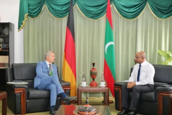 Ambassador of Germany calls on Foreign Minister Abdulla Shah ... Image 1
