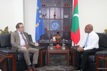 Ambassador of the European Union pays farewell call on the F ... Image 1