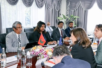 First Senior Officials Meeting between the Maldives and the  ... Image 1