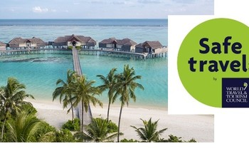 Maldives achieved the Safe Travels Stamp, granted by World T ... Image 1